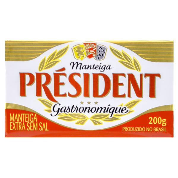 Manteiga Extra sem Sal Président Gastronomique 200g