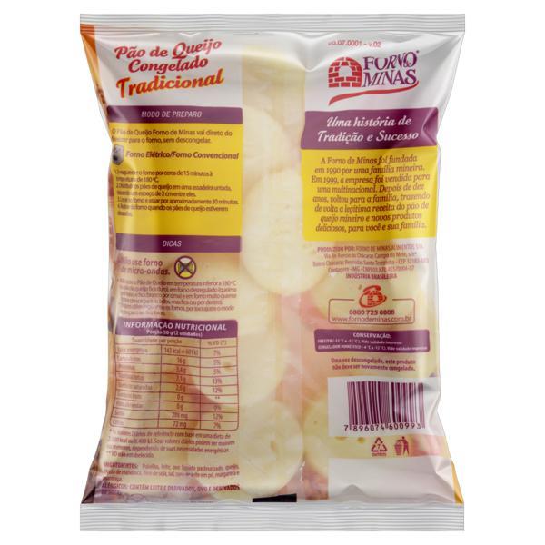 Pão de Queijo Congelado Tradicional Forno de Minas Pacote 400g