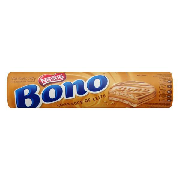 Biscoito Recheio Doce de Leite Nestlé Bono Pacote 140g