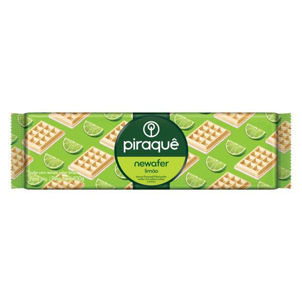 Biscoito Wafer Recheio Limão Piraquê Newafer Pacote 100g