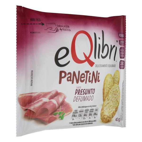 Snack Presunto Defumado Eqlibri Panetini Pacote 40g