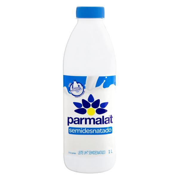 Leite UHT Semidesnatado Parmalat Garrafa 1l