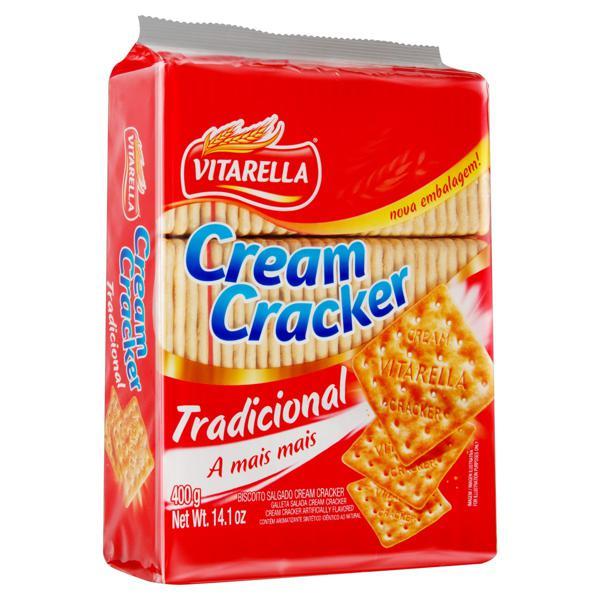 Biscoito Cream Cracker Tradicional Vitarella 400g