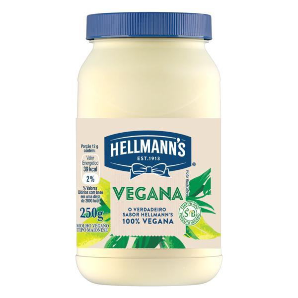 Molho Tipo Maionese Vegana Hellmann's Pote 250g