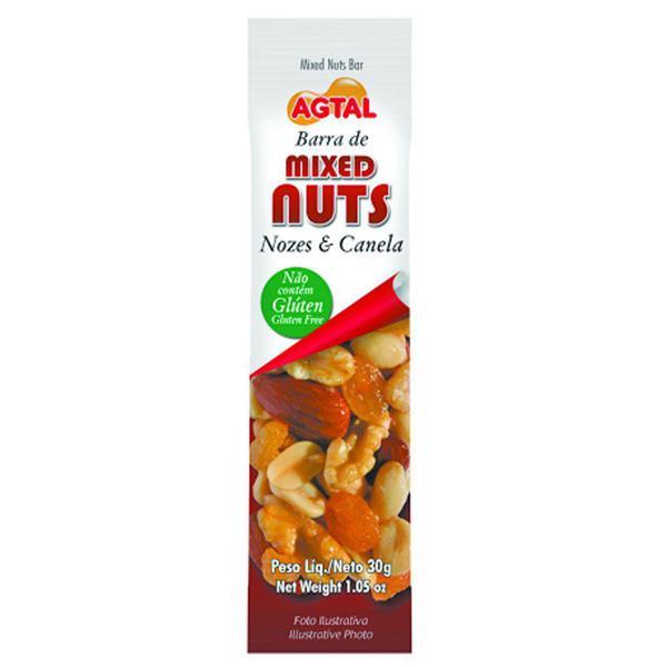 Barra de Cereal Mixed Nuts Agtal 30G Nozes e Canela