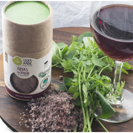 Sal temperado com ervas com vinho 150g