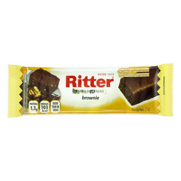 Barra de Cereal Brownie Cobertura Chocolate Ritter Pacote 25g