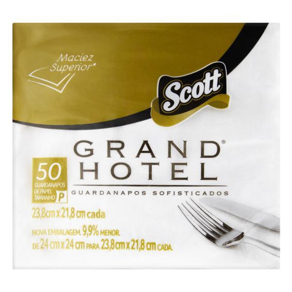 Guardanapo de Papel Folha Dupla Scott Grand Hotel 23,8cm x 21,8cm Pacote 50 Unidades