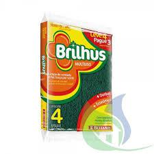 Esponja Multiuso BRILHUS 4un