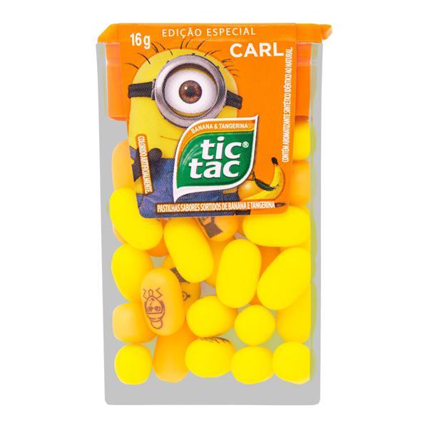 Pastilha Banana e Tangerina Carl Tic Tac Meu Malvado Favorito 3 Caixa 16g