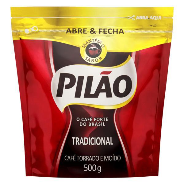 Café Torrado e Moído Tradicional Pilão Pouch 500g