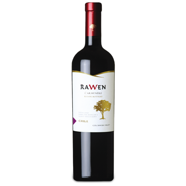 Vinho Tinto Chileno Rawen Estate Bottled Carmenere 750ml