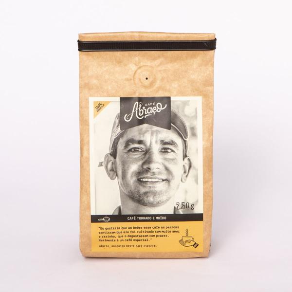 Café produtor Márcio, Torrado e Moído 250g - Café Abraço