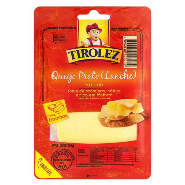 Queijo Prato Fatiado Tirolez 150g