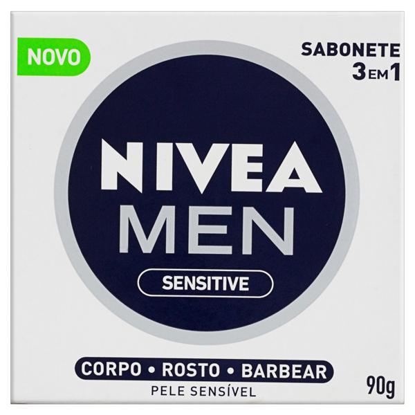 Sabonete em Barra 3 em 1 Sensitive Nivea Men Caixa 90g