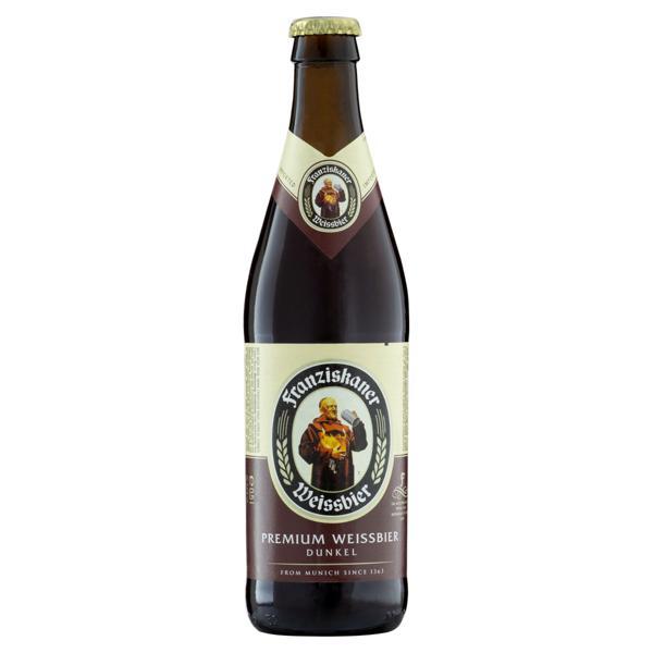 Cerveja Hefe-Weissbier Dunkel Premium Franziskaner Garrafa 500ml