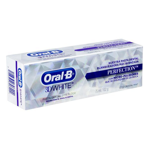 Creme Dental Crystal Mint Oral-B 3D White Perfection Caixa 102g