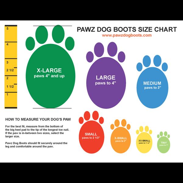 Pawz Dog Boots XX SMALL COM 4 UNIDADES
