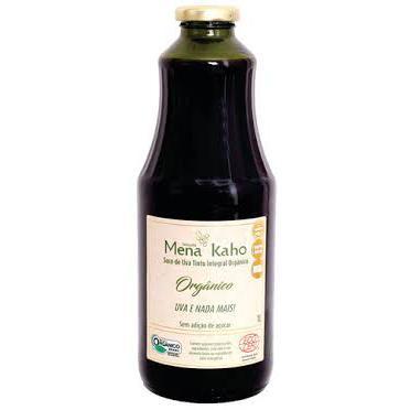 Suco De Uva Organico  Mena Kaho 1lt
