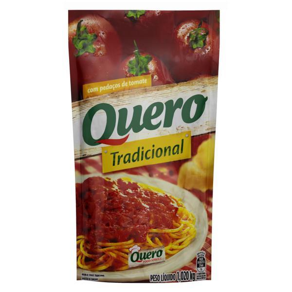 Molho de Tomate em Pedaço Tradicional Quero Sachê 1,02kg