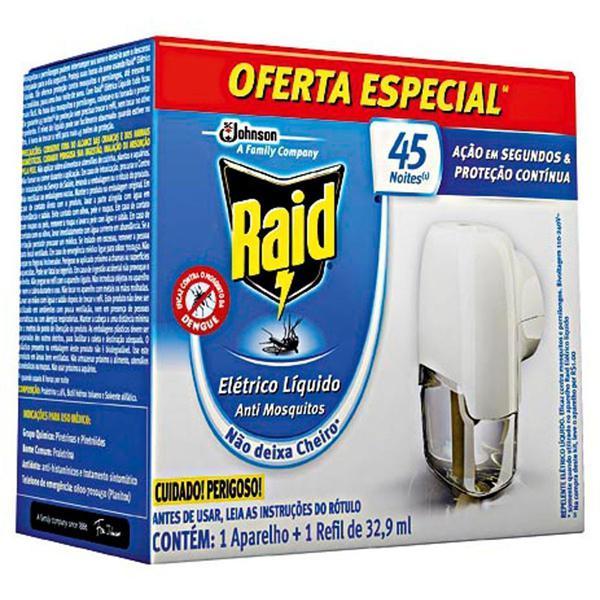 Repelente Elétrico RAID Protector 45 Noites 32,9ml