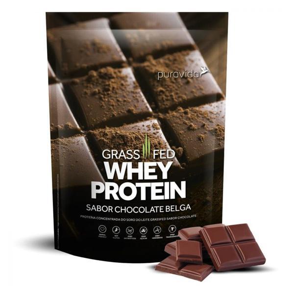 Whey Protein Grassfed Chocolate Belga 450g - Puravida