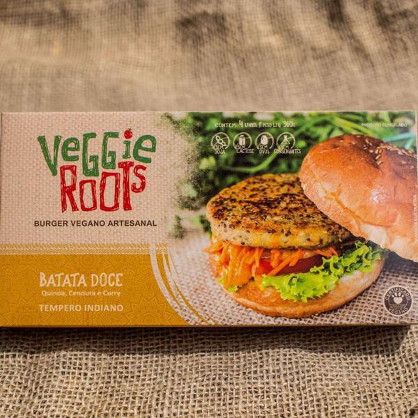 Burger Vegano Indiano, 4 unidades de 90g, total 360g - Veggie Roots
