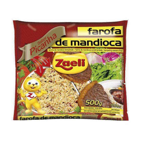 Farofa Zaeli 500G Mandioca Pronta Picanha