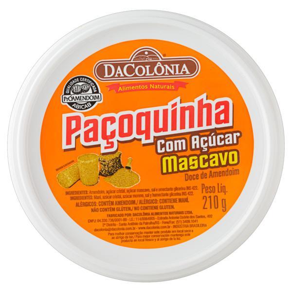 Paçoquinha com Açúcar Mascavo DaColônia Pote 210g