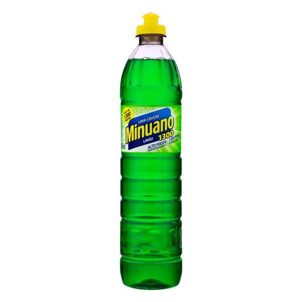 Lava-Louças Líquido Limão Minuano 1300 Squeeze 500ml