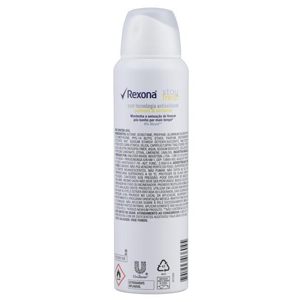 Antitranspirante Aerossol Stay Fresh Pomelo & Verbena Rexona Motionsense 150ml