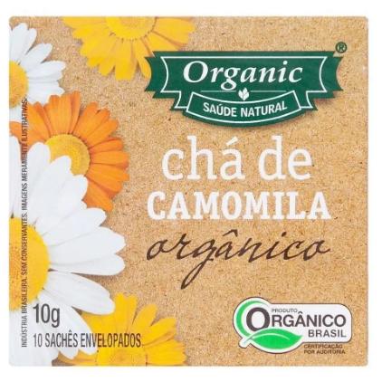 Chá de Camomila Orgânico ORGANIC 10g