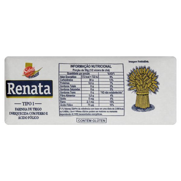 Farinha de Trigo Tipo 1 Renata Pacote 1kg