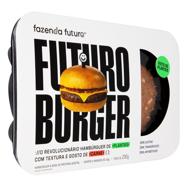Hambúrguer Vegetal Fazenda Futuro Burger Bandeja 230g 2 Unidades