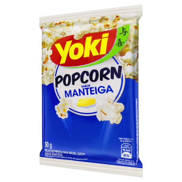 Pipoca para Micro-Ondas Manteiga Yoki Pacote 50g