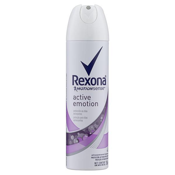 Antitranspirante Aerossol Active Emotion Rexona Motionsense 150ml