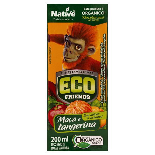 Suco Misto Orgânico Maçã e Tangerina Esquadrão ECO Friends Native Caixa 200ml
