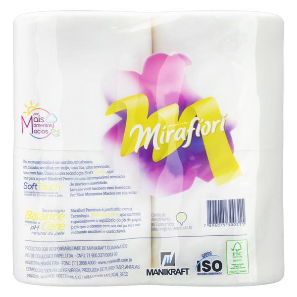 Papel Higiênico Folha Dupla Mirafiori Premium 30m Pacote 12 Unidades