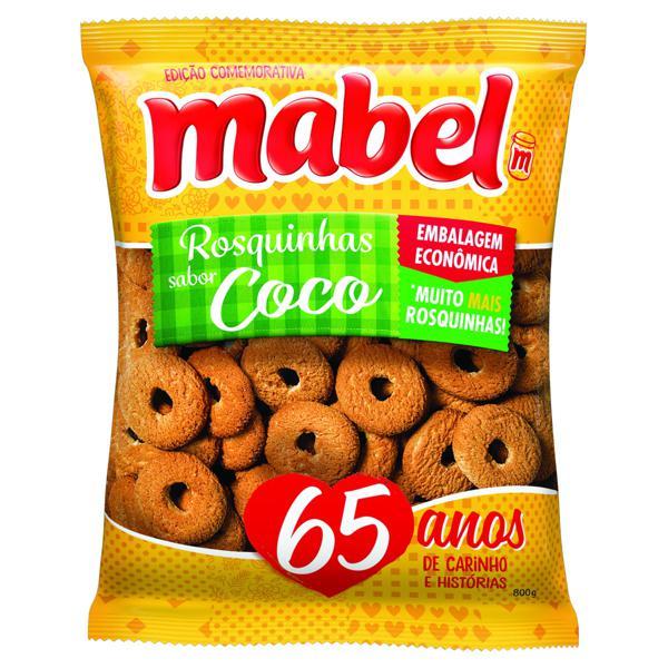 Biscoito Rosquinha Coco Mabel Pacote 700g Embalagem Econômica