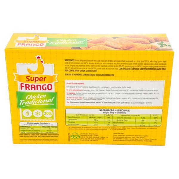 Empanado de Frango Congelado Tradicional Super Frango Caixa 300g