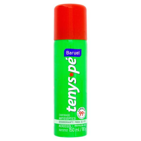 Desodorante Aerossol para Pés Baruel Tenys Pé Canforado Frasco 150ml