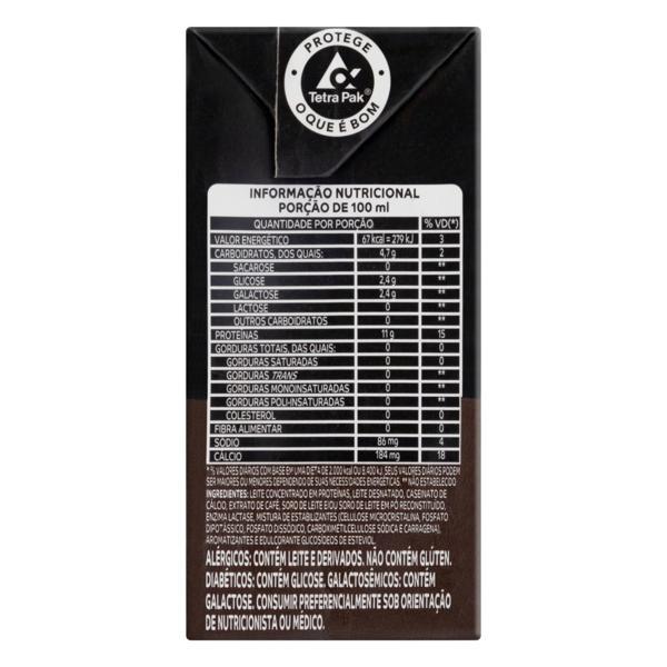Bebida Láctea UHT Café Zero Lactose Itambé Pro Whey Caixa 200ml