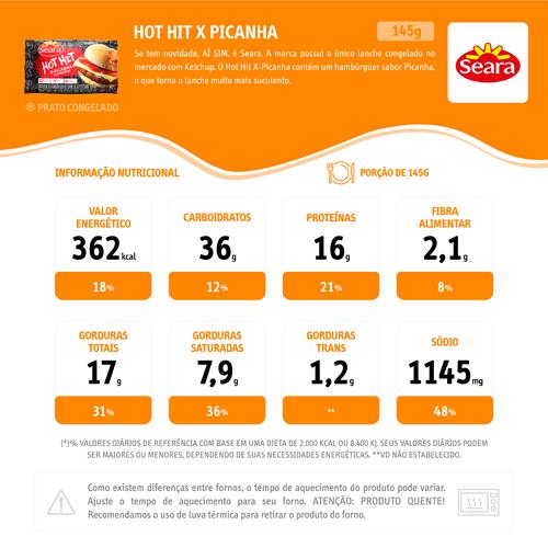 Sanduíche Hot Hit SEARA Picanha 145g