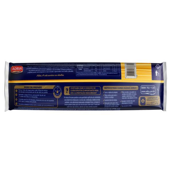 Macarrão de Sêmola com Ovos Espaguete 8 Adria Pacote 500g