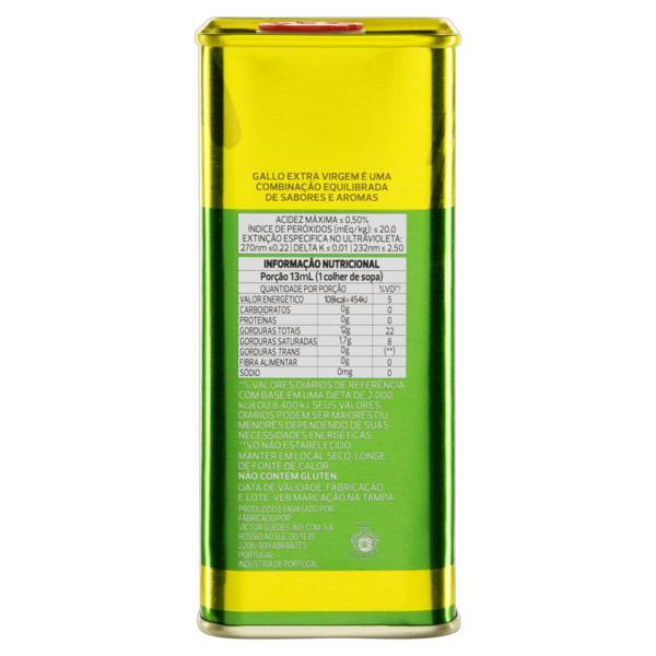 Azeite de Oliva Extravirgem Português Gallo Lata 500ml