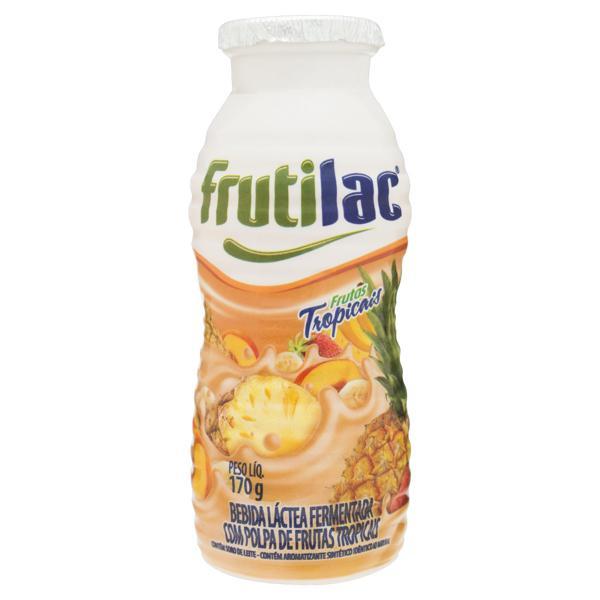 Bebida Láctea Fermentada Frutas Tropicais Frutilac Frasco 170g