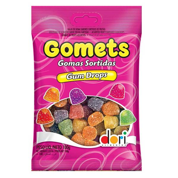 Bala De Goma Dori Gomets 100G Pacote Gum Drops