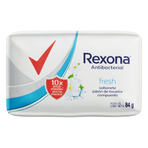 Sabonete em Barra Antibacterial Fresh Rexona Cartucho 84g