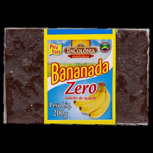 Bananada Zero Tablete Dacolonia 200G