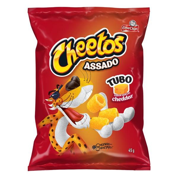 Salgadinho de Milho Tubo Queijo Cheddar Elma Chips Cheetos Pacote 45g